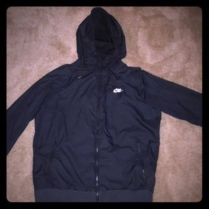 Nike black windbreaker size Large